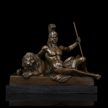 Classical Tamers Bronze Sculpture Vintage Art Man and Tiger Statues  Figurine Artwork Collection CZS-599