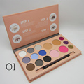 Pro 12 colors Matte eye shadow blusher makeup palette Nude Glitter eyeshadow concealer kit Earth color Women Facial Cosmetic kit