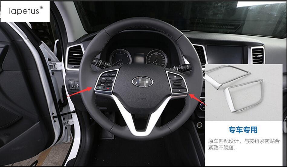 Matte Style ! Accessories For Hyundai Tucson 2016 - 2018 Steering Wheel Bottom Decoration Molding Cover Kit Trim 2 Piece / Set