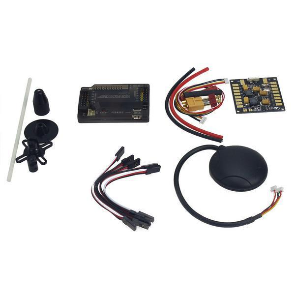 APM2.8 ArduPilot Flight Control with Compass,6M GPS,Power Distribution Board, GPS Folding Antenna for DIY FPV RC Drone F15441-A apm 2 6 flight controller board ardupilot mega 2 6 version with side pin connector for multicopter