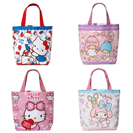 90d369619 Cute My Melody Hello Kitty Canvas Lunch Bag for Girls Kids Little Twin  Stars Mini Small Handbag Lunch Box Tote Bags Food Bag