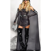 VASHEJIANG Renaissance Zorro Costume Fantasia Feminina Super Hero Cosplay Women Sexy Brown superman Sexy Halloween Costume