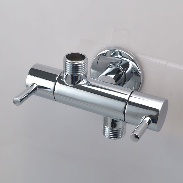 1/2 inch(DN15) Wall Mounted Double Outlet Outdoor Garden Faucet ...