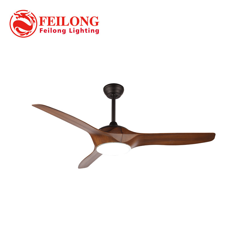 Decorative Wood Blades Ceiling Fan with led light