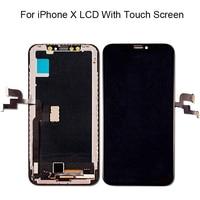 Супер AMOLED 100% новый для iphone X ЖК дисплей сенсорный экран дигитайзер сборка Замена для iphone x lcd Бесплатная доставка