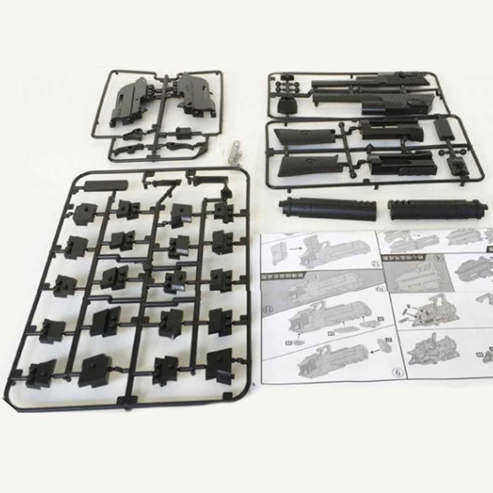 2019 Can Fire Desert EagleAssembly Gun Pistol Rifle DIY Building Blocks 3D Miniature Model Plastic Toy Gift for Boy Kids