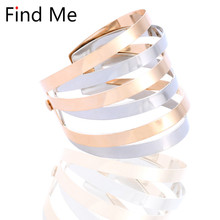 Find Me 2018 new Fashion multilayer Hollow out Cuff Bracelet For Women Vintage punk boho multilayer Bracelet Jewelry wholesale