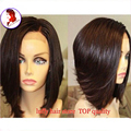 Silk Top Bob Wig Human Hair Bob Wigs Short Full Silk Base Wigs For Black Women 8A Grade Indian Virgin Hair