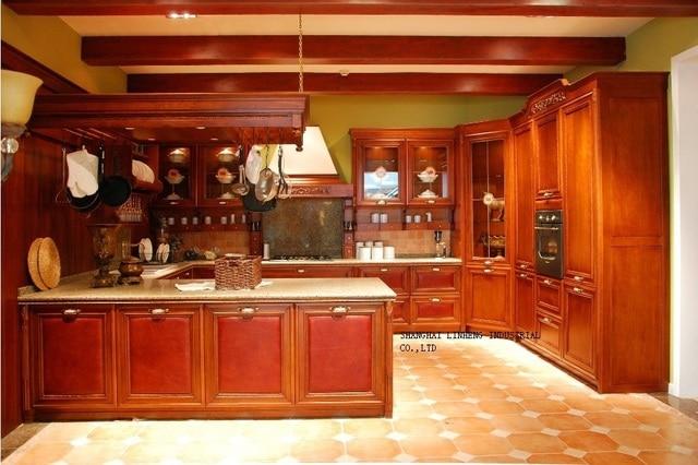 Mobili da cucina in legno di ciliegio colore (LH SW055) in Mobili da ...