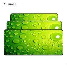 Yuzuoan Water Op De Blauw Glas Lock Edge Muis Bureau Matten Voor Speed Gamer Grote Muismat Mousepad Mode Laptop notebook Matten