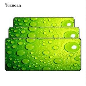 Image 1 - Yuzuoan Water Op De Blauw Glas Lock Edge Muis Bureau Matten Voor Speed Gamer Grote Muismat Mousepad Mode Laptop notebook Matten