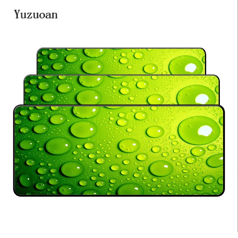 Yuzuoan Water on the blue glass Lock Edge Mouse Desk mats For Speed Gamer Large mouse pad mousepad Fashion Laptop Notebook Mats-in Mouse Pads from Computer & Office