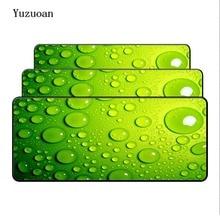 Yuzuoan eau sur le verre bleu serrure bord souris tapis de bureau pour vitesse Gamer grand tapis de souris tapis de souris mode ordinateur portable tapis dordinateur portable