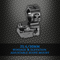 High Quality 25.4mm Ring Tactical Laser Sight Flashlight Rifle Scope Mount Adjustable Elevation Windage for 20mm Rail System