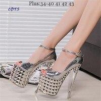 Crossdresser Plus 34 39 Summer Sandals 19 20cm Thin High Heels Female Shoes Gold Sliver Platform