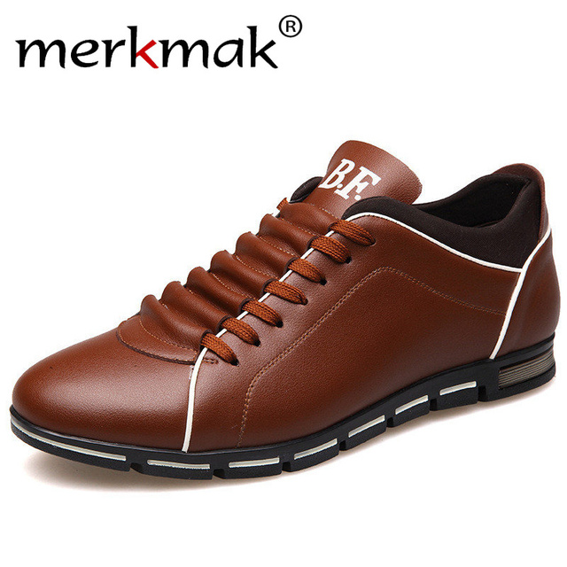 New 2018 Brand Men Shoes England Trend Casual Leisure Shoes Leather Shoes Breathable For Male Footear Loafers Men's Flats