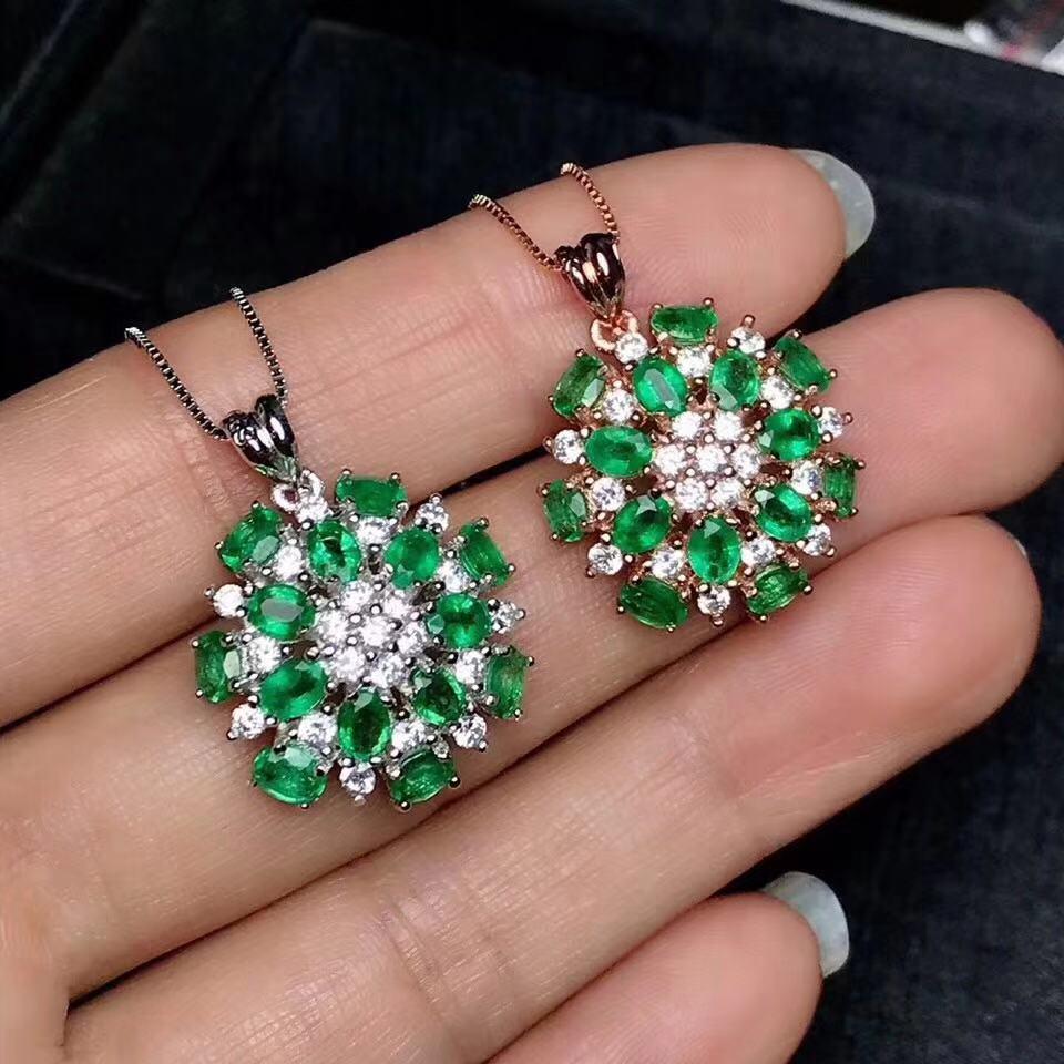 W stylu arabskim gwiazda wisiorek z księżycem z Emerald naturalny szmaragdowy wisiorek Soldi 925 szmaragdowa biżuteria z certyfikatem w Celebrytki od Biżuteria i akcesoria na  Grupa 1