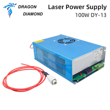 DY13 reci co2 power supply 100w for reci co2 laser tube w4 100w for co2 laser cutting machine цены