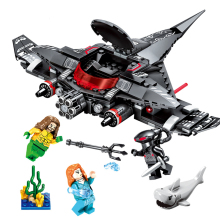 NEW Black Manta Strike Building Blocks Compatible legoingly Avengers Super heros Aquamans Figures bricks Set toys for Children