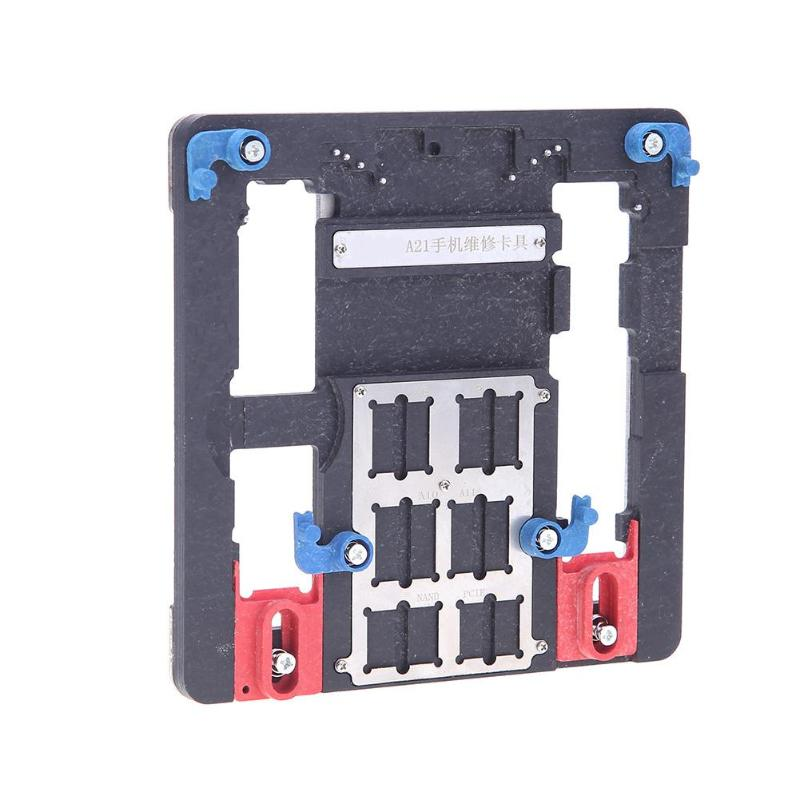 PCB Holder Mobile Phone Motherboard Fixture Jig Cellphone Maintenance Board Clamp for iPhone Mobile Phone Board Repair Tool mobile phone repair tools anti static adjustable lcd screen pcb motherboard support holder plastic tray for iphone smart phone