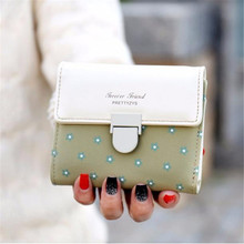 Women Girls Plum Flower Short Coin Purse Wallet Handbag Women Purse 2016 Korean Fashion Small Female Wallets Zipper Purses