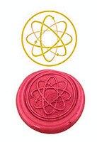 Vintage Atom Science Custom Luxury Wax Seal Sealing Stamp Brass Peacock Metal Handle Sticks Melting Spoon