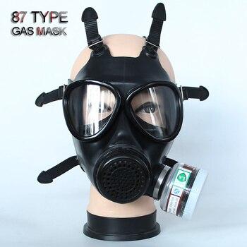 87 tipo di gas Pieno maschera Non-militare Respiratore Gas maschera di gomma di alta qualità ad Alta definizione di sicurezza maschera 4 filtri per gas tossici