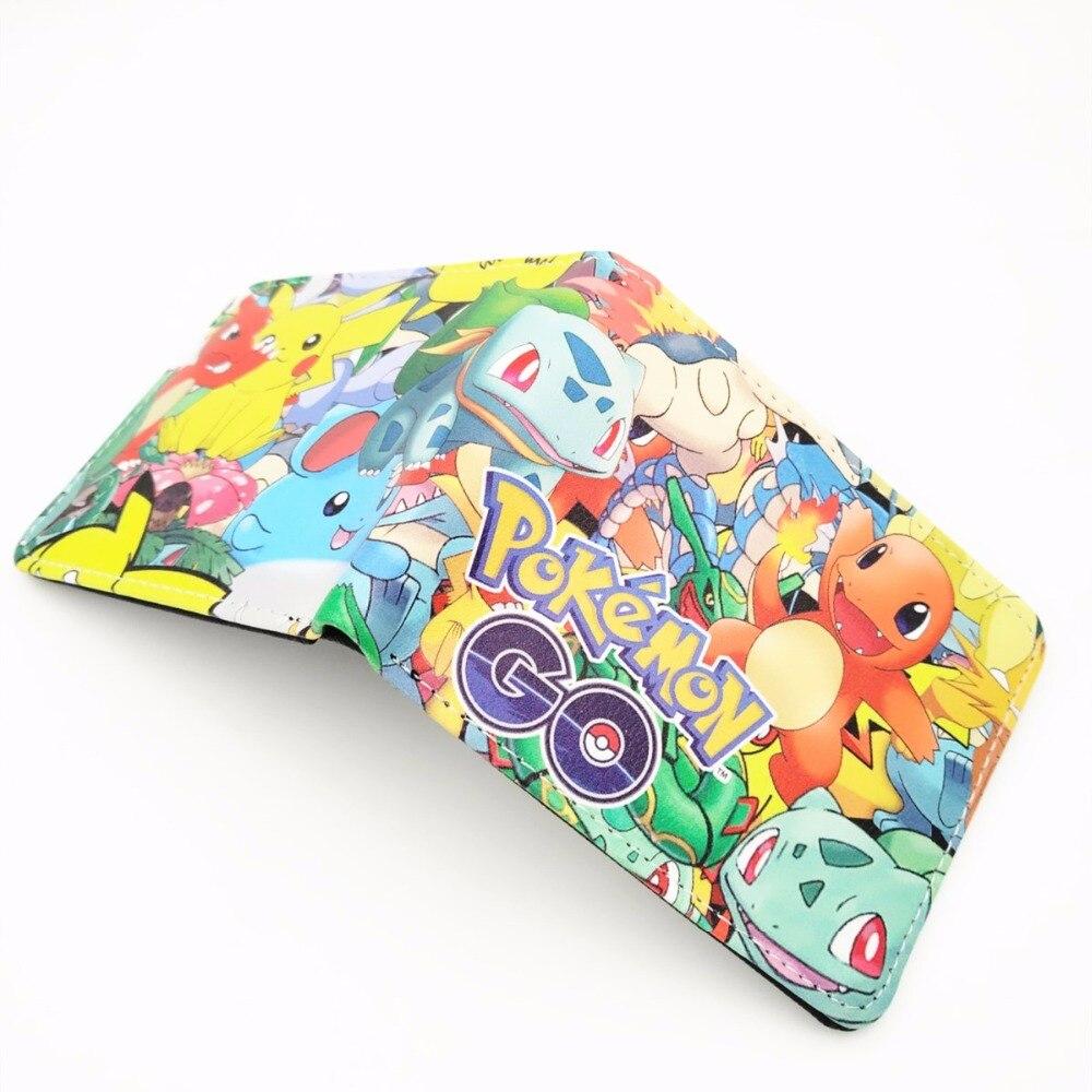 2018 Cartoon Anime Pocket Monster Pokemon GO Pikachu Wallets W381