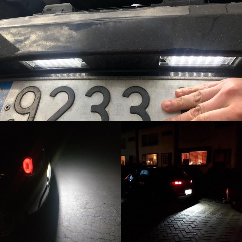 2 шт. для Alfa Romeo 147 156 159 166 Brera Giulietta Mito GF Spider CANbus Led подсветка номерного знака авто Замена