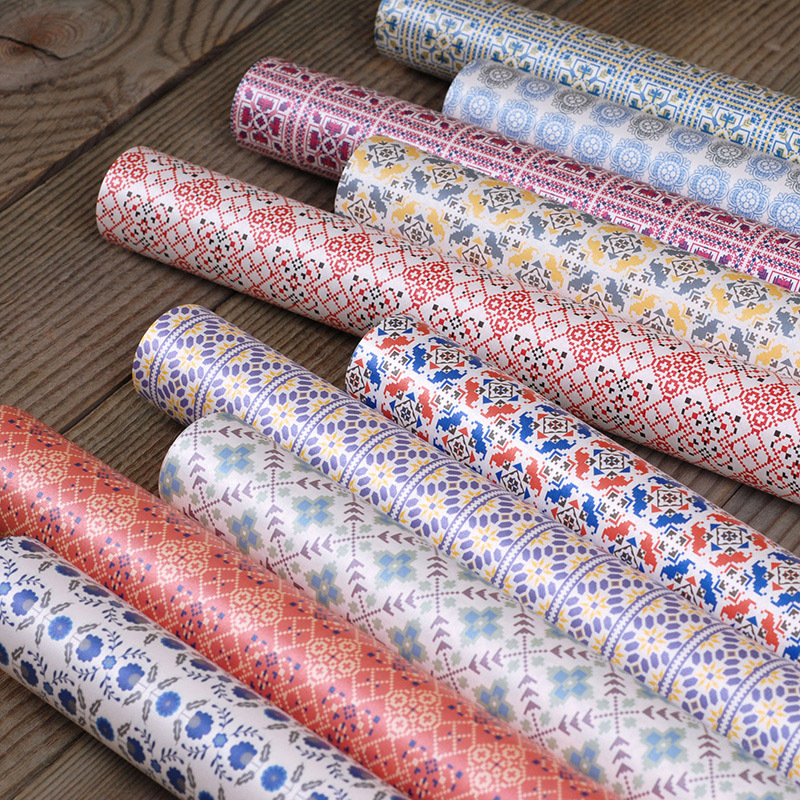 gift wrapping paper sheets