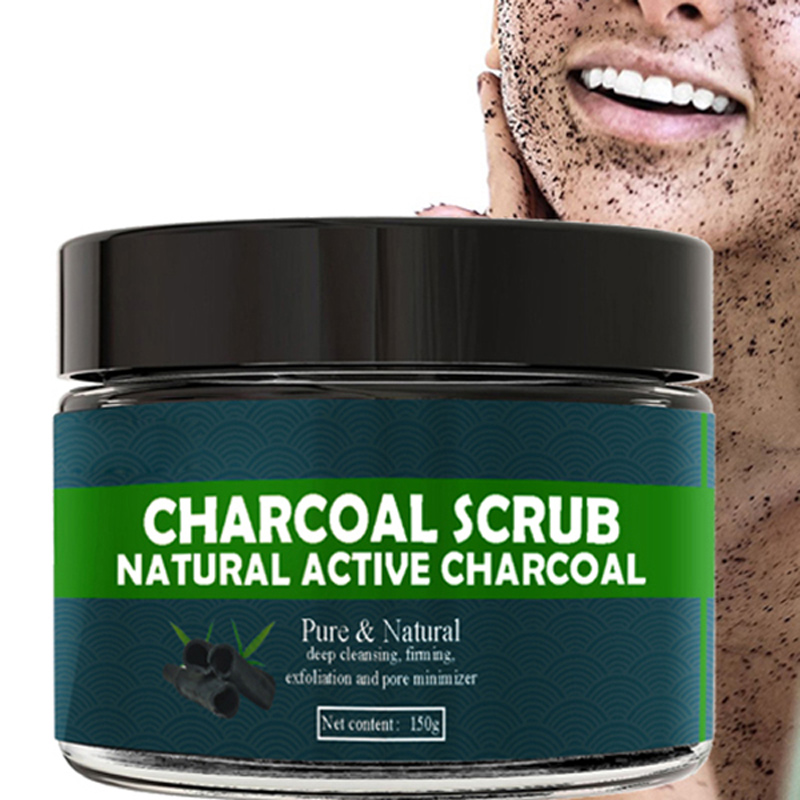 150g Bamboo Charcoal Face Scrub Body Scrub Exfoliating Gel Dead Skin Remover Whitening Moist Deep Cleasing Skin Care Product coconut coffee body scrub cream whitening charcoal handmade soap dead sea mud face black blackhead remover mask 3 in 1 set