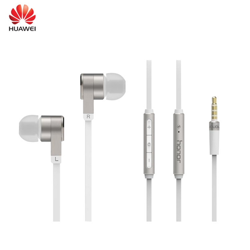 Original Honor sports Earphones wired in-ear earphone with mic bass stereo headset noise-proof earbuds for Huawei Xiaomi Iphone