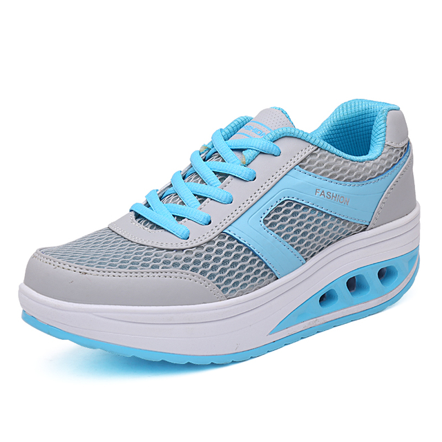 Height Increasing Breathable Swing Wedges Shoes Women Trendy Health Slimming Beauty Lady Sport Fashion Shoe