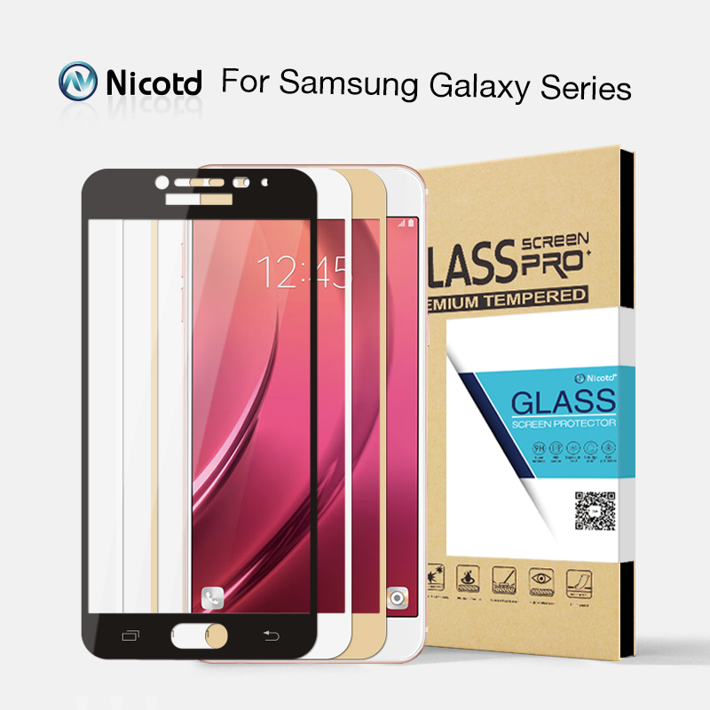 Pleine Couverture En Verre Trempé pour Samsung Galaxy S6 S7 J2 J5 J7 Premier Note 4 Note 5 Galaxy A3 A5 A7 2016 2017 Écran Protecteur Film