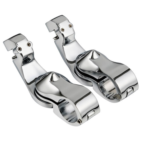 Universal 1 1 4 32mm Adjustable Highway Short Angled Foot Pegs Mount Kit For Harley Touring