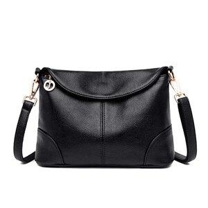 Image 2 - 2018 Hot High Quality Women Handbag Luxury Red Messenger Bag Soft Genuine Leather Fashion Ladies Crossbody Bags Female Bolsas