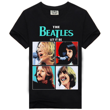 summer Heavy metal men t shirt men rock tshirt Black t-shirt fashion The beatles brand cotton t-shirts
