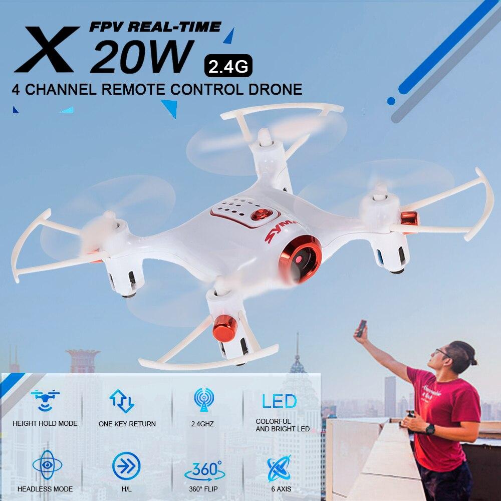 Original SYMA X20W 2.4G 0.3MP Camera Wifi FPV Altitude Hold RC Quadcopter RC Drone with Camera Remote Control Helicopter syma x20w mini drone rc dron quadcopter remote control helicopter rc quadcopter with camera wifi fpv 2 4g 4ch aircraft