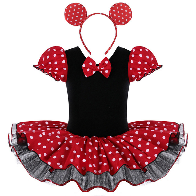 e26b2aa17 Baby Girls Minnie Mouse Mickey Cosplay Ballet Leotard Dresses ...