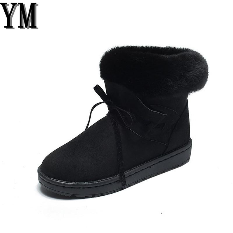 Becerro Mujer Casual 3 Zapatos Color Black Zapato Las No Nieve slip Moda Lindo Mujeres Invierno khaki Piel De Gamuza gris Botas B7qxBP