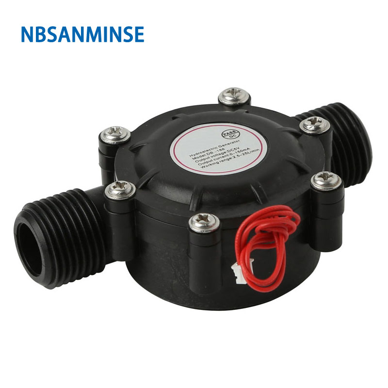 Nbsanminse Smb 168 Water Flow Generator Dc5v For Water Flow Used For Home Lighting, Sanitary Ware, Charging 3v5v Battery