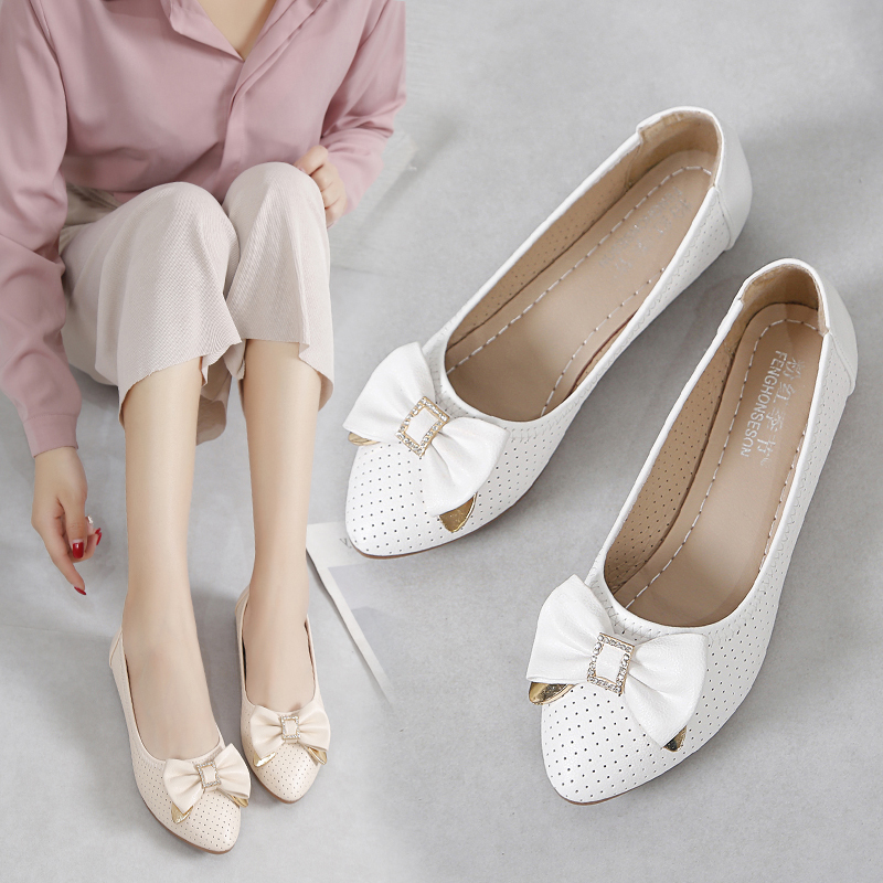 Women Flats Wedding Shoes Bridal White Ballet Flats Big Butterfly Knot Boat Shoes Crystal Slip On Flat Shoes Woman Low Heel 7500