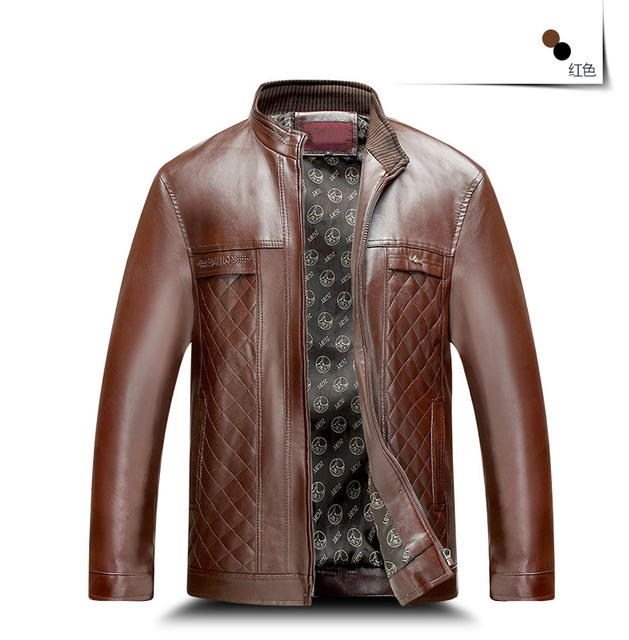 TG6065Cheap wholesale 2016 new Qiu dong season men older collar thin PU leather jacket leisure coat