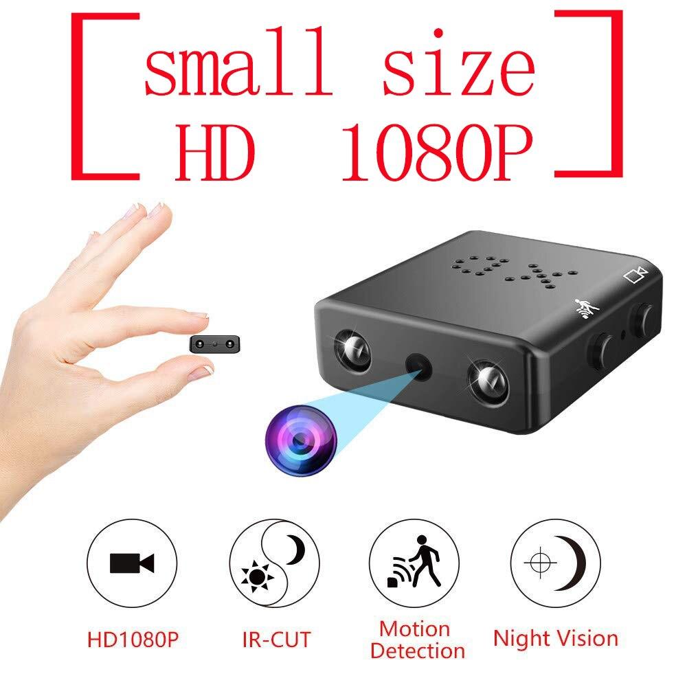 Dimensione più piccola HD 1080 p Notturna A Raggi Infrarossi di Visione Notturna Mini Macchina Fotografica Digitale Nanny Micro Cam di Sicurezza nascosta Video di Rilevamento del Movimento IR-CUT