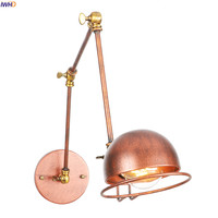 IWHD Adjustable Long Arm Retro Wall Lights Fixtures Bathroom Mirror Stair Light Industrial Vintage Wall Lamp Sconce Wandlamp LED