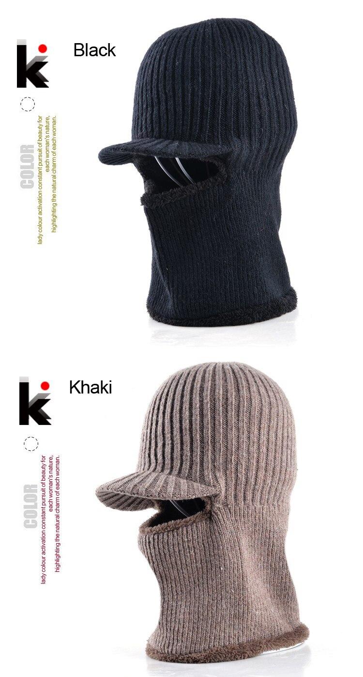 ①Papá sombrero de invierno skullies gorra de béisbol de lana de ...