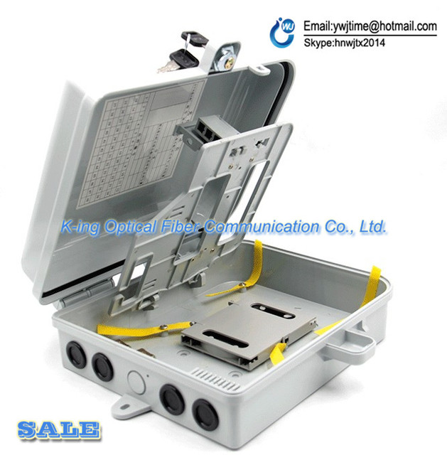 16 port FTTH Fiber Optic Termination Box 1X16 Core Outdoor Fiber Optic Distribution Box Fiber Optical Splitter Distribution Box