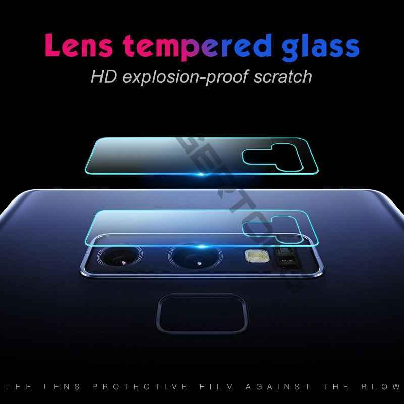 شفافة عودة كاميرا عدسة الزجاج المقسى لسامسونج GalaxyS7 حافة S10 e S8 S9 Note9 8 M20 M10 A8 زائد a7 A9 2018 حامي