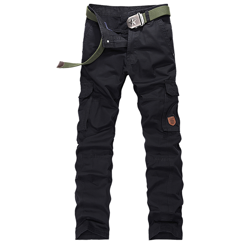 2017 Spring New Loose Cotton Pantalones Militares Para Los Hombres Good Quality Classical Pantalon Cargo Homme