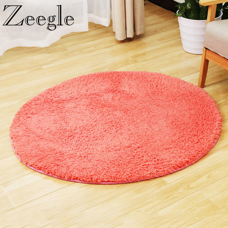 Zeegle CamoFleece Round Carpet Mats Soft Fluffy Carpet For Living Room Shaggy Kids Bedroom Computer Chair Circular Mats